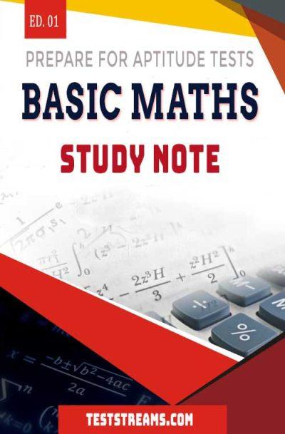 Basic Maths Study note for Aptitude tests