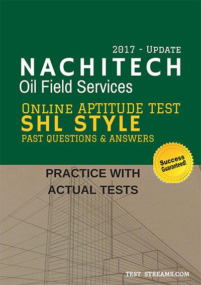 Nachitech Oil Services Aptitude test Past questions