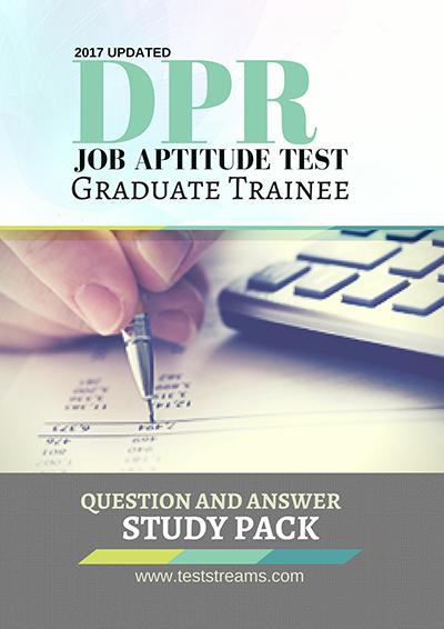 DPR Graduate Job Aptitude Test past questions study pack