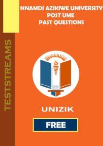 free unizik post ume past questions
