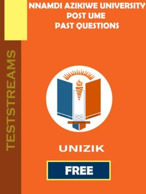 free unizik post ume past questions