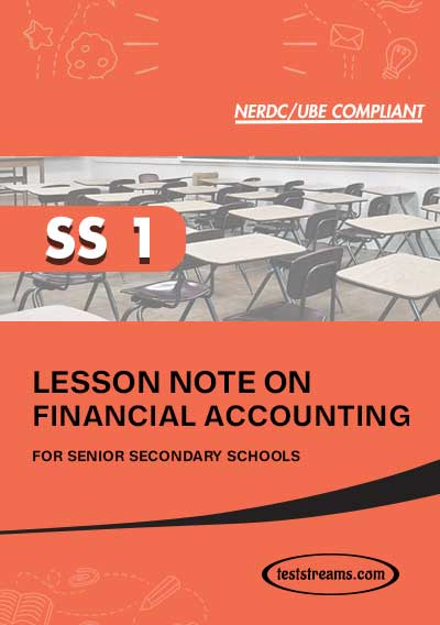 Lesson Note on FINANCIAL ACCOUNTING for SS1 MS-WORD