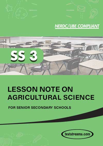 Lesson Note on AGRICULTURE for SS3 MS-WORD