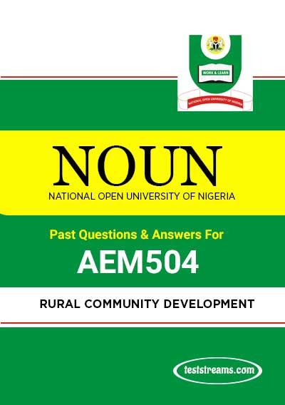 NOUN RURAL COMMUNITY DEVELOPMENT