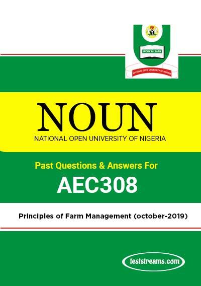 AEC308 – Principles of Farm Management (october-2019)