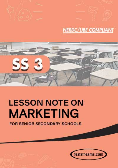 Lesson Note on Marketing for SS3 MS-WORD